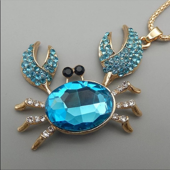 Blue Crab Necklace